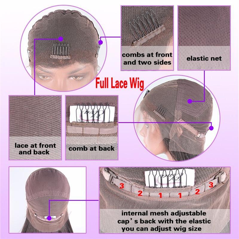 Langes gerades, natürlich aussehendes Haar, leimlose Spitzefront mit voller Haarspitzeperücke für Afroamerikaner, woman12-26inch, hitzebeständig