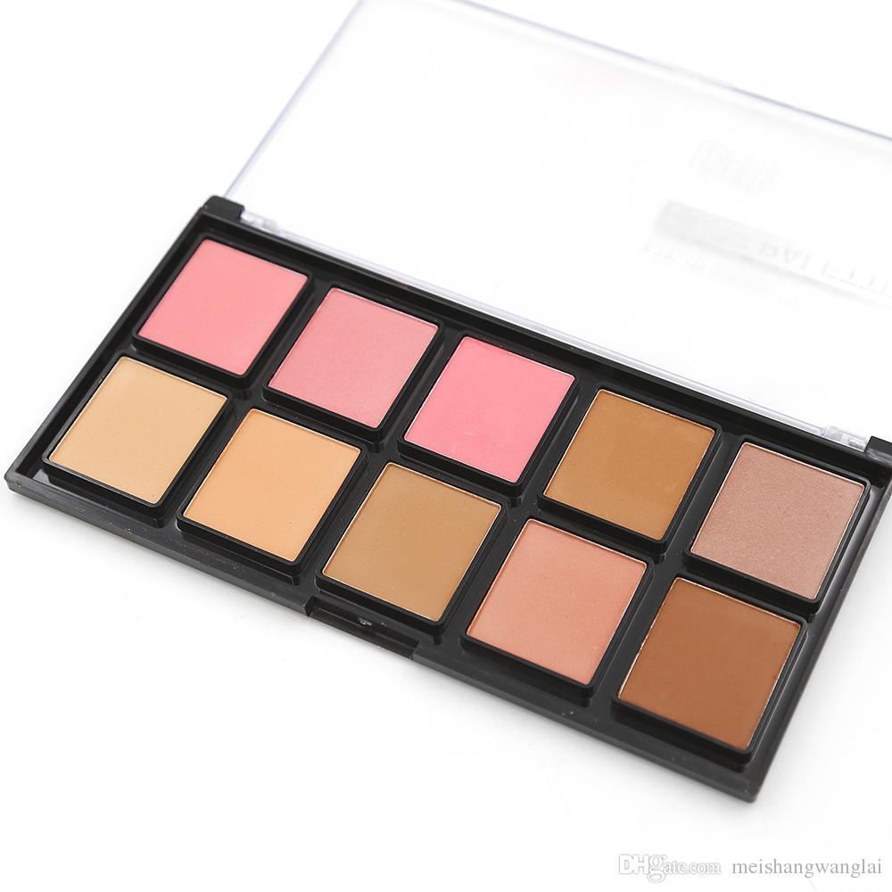 Contour Powder highlighter maquillaje profesional cara es polvo presionado capacidad de reparación en polvo paleta FC454A