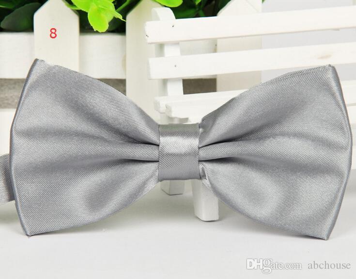 Sıcak Satış Erkekler Yay Bağları Düz Ticaret Kravat Resmi Gizli Kafes Renkli Ilmek Yay Kravatlar Drop Shipping Polyester