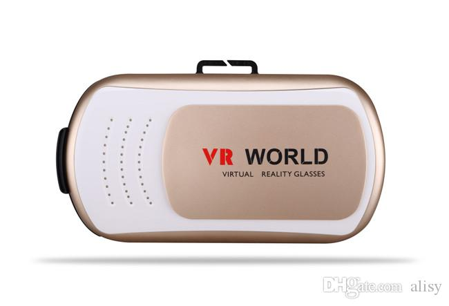 Universal VR World Virtual Reality 3D Glasses Game Movie 3D Glass For iPhone Android Mobile Phone Cinema 2 Color for Choosin