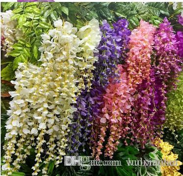 Best quality wholesale hot sale silk wisteria flowers vine home best quality wholesale hot sale silk wisteria flowers vine home hotel decor hanging artificial plant garland wedding party at cheap price online decorative mightylinksfo Choice Image
