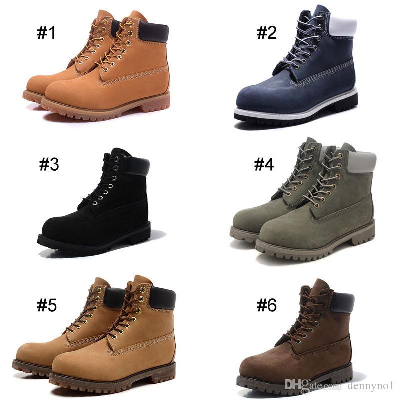 Compre Clássico Das Mulheres Dos Homens Calçado 6 Inch Premium Botas À  Prova D  Água Martin Ankle Boots Mid Corte Sapatos Nubuck Couro De Grão  Integral De ... f875a759913ff