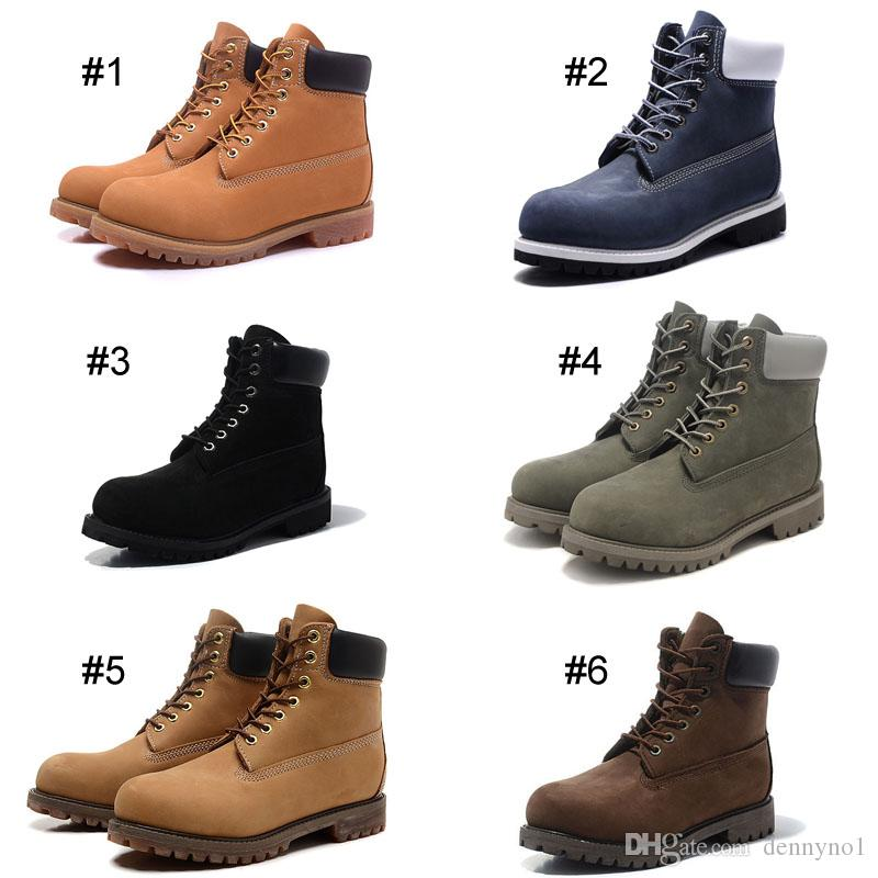 8c282b7ee8c Classic Men Women Footwear 6-Inch Premium Waterproof Boots Martin Ankle  Boots Mid cut shoes Nubuck Full-grain leather