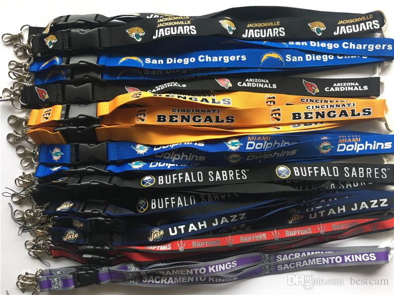 Hot Selling Football Teams Lanyard ID Card Badge Holder Detachable Keychain For Xmas Gifts Collection