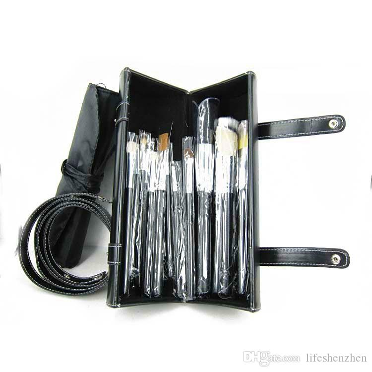 New arrival Professional Brush Sets+Leather Pouch in 1 DHL