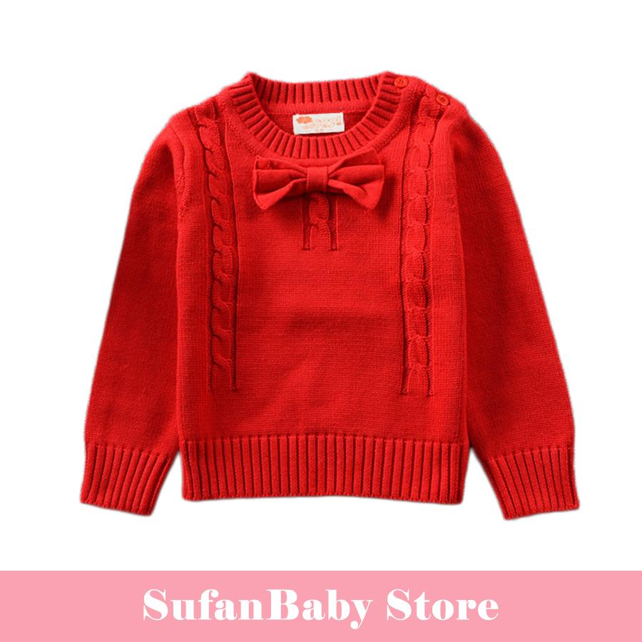 Autumn Unisex Boys Girls Sweaters Cotton Long Sleeve Knitted Kids ...