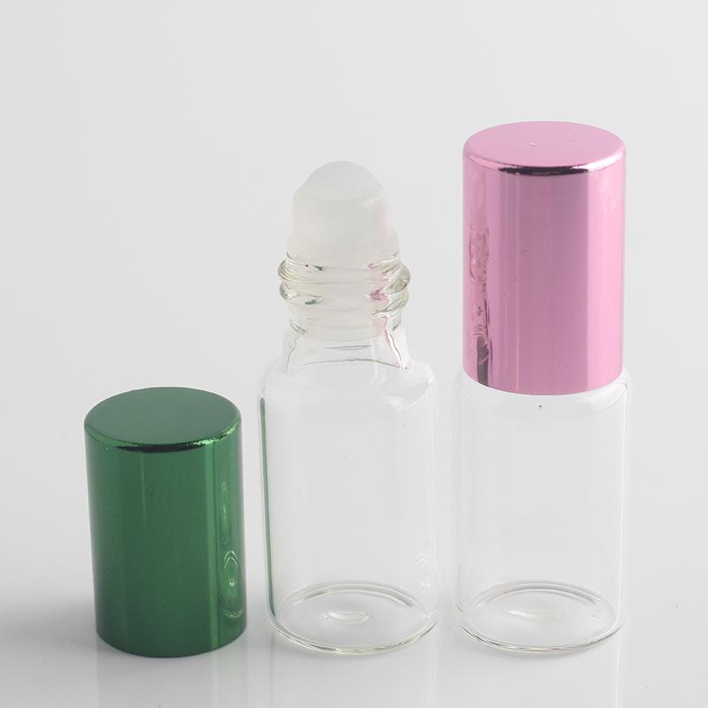 5ML/5Gram Glass Roll-on Bottle Tube With Aluminum Cap 5CC Glass Roller Ball Sample Clear Bottle Fragrance Perfume