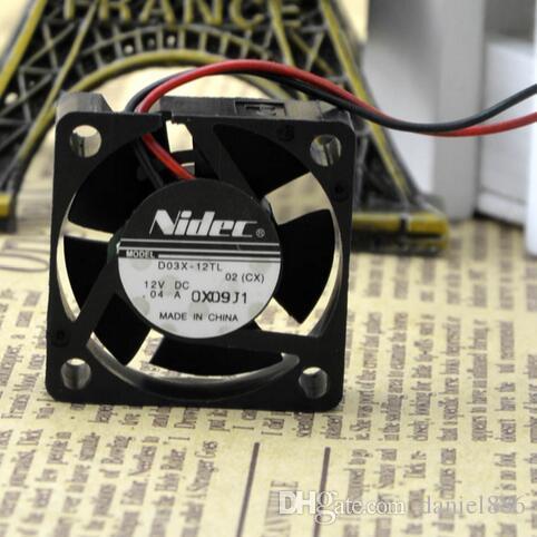 NIDEC D03X-12TL 12V 0.04 A 30*30*10 вентилятор жесткого диска двухпроводной тетради 3CM молчком