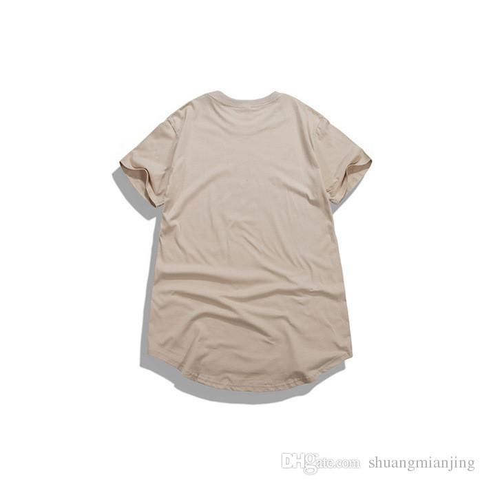 High quality men hip hop t shirt clothing oversized tee shirts swag men sport broken hole kpop rock hba t-shirt five colors