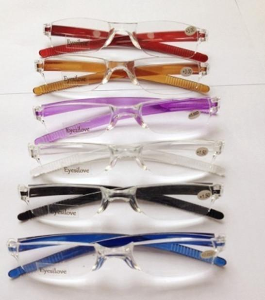 Unbreakable colorful transparent clear reading glasses many colors strength power from +1.00 to +4.00