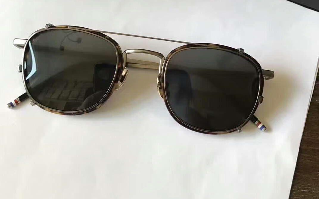 1327baf7da25 Mens ROUND TORTOISE BLACK IRON CLIP SUNGLASSES GREY LENS Fashion Brand  Sunglasses New With Box Best Sunglasses Dragon Sunglasses From Baiyu168