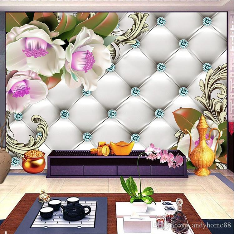 Simple TV background wallpaper European fresco wallpapers living room bedroom 3d non-woven film wallpaper 5D wall covering
