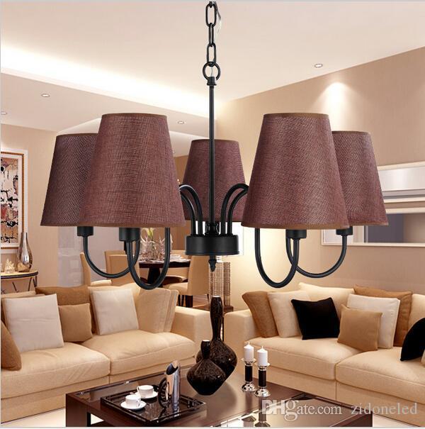 Retro Loft vintage lámparas colgantes iluminación decoraciones para salón  comedor negro blanco vintage accesorios de iluminación