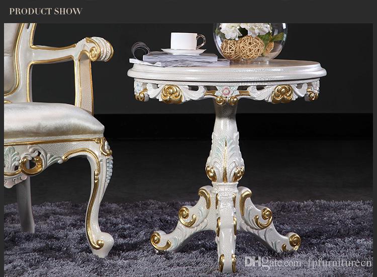 Производитель антикварной мебели - французский классический журнальный столик, европейский круглый стол