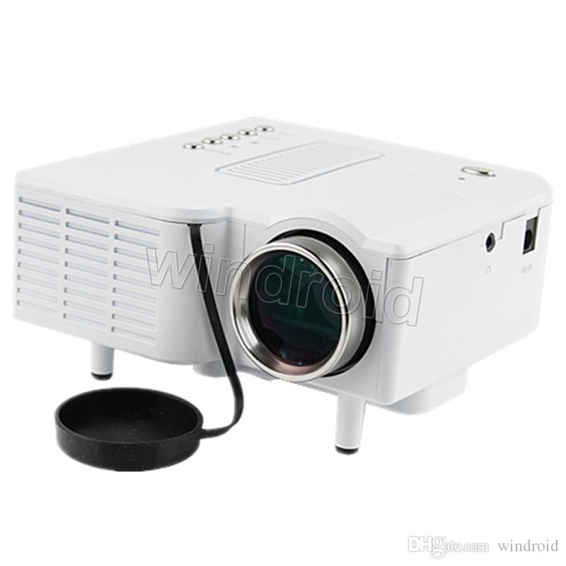 UC28+ Projector Mini LED Portable Theater Video Projector PC&Laptop VGA/USB/SD/AV digital pocket home cinema with Retail Package Free DHL