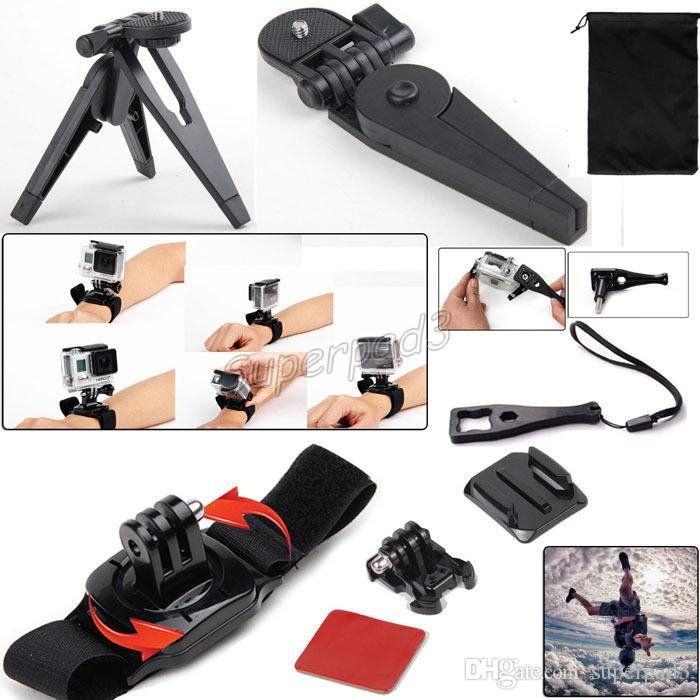 13 in 1 Kit Set Gopro Monopods Accessories + M Size Shockproof Carry Case Travel Kit Accessories For Sports Action Cameras Hero 4 3+