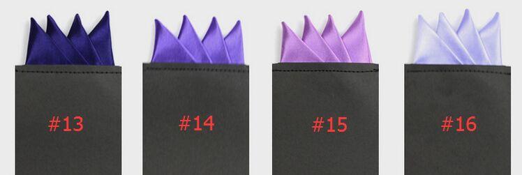 Scharfe Ecken Pocket Square 24 Farben solide Tasche Handtuch Herren Anzug Tasche Hanky für Cocktail Party Hochzeit Weihnachten Free FedEx TNT