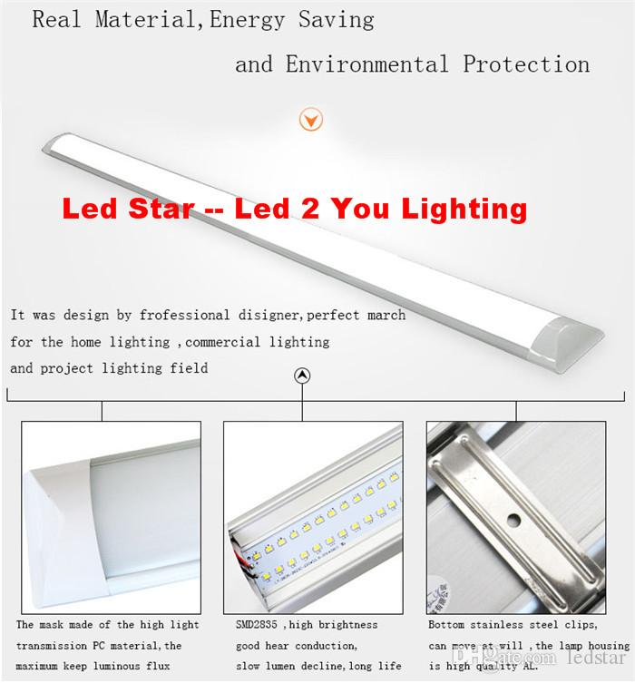 LED Tri-Proof Light Batten T8 Tube 1FT 2FT 3FT 4FT Explosionssicher Zwei LED-Tube-Lampen ersetzen fluoreszierende Leuchte-Deckengrilllampe