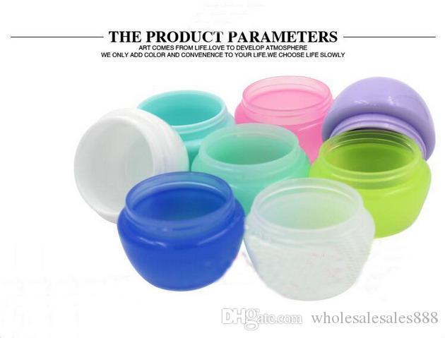 Fabrika Fiyat Krem şişe 10g veya 10 ml Kozmetik Örnek Boş Doldurulabilir Konteyner, Plastik Makyaj Kozmetik Kavanoz Pot Şişe Konteyner