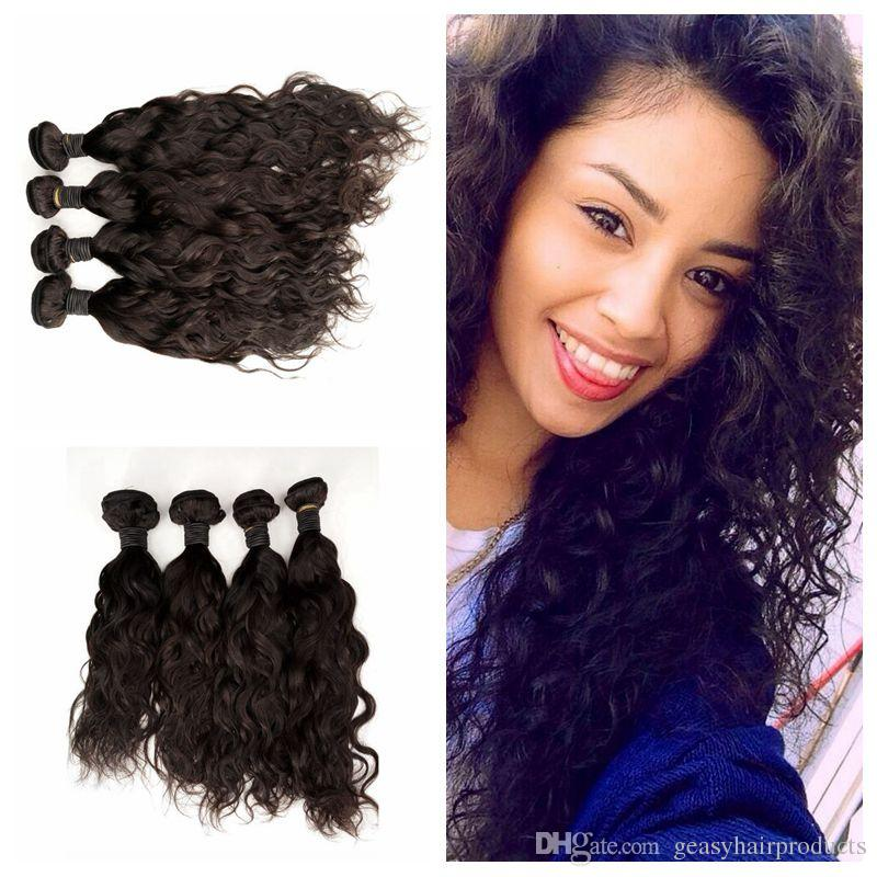 8 30inch Mongolian Human Hair Water Wave Bundles Can Be Dyed