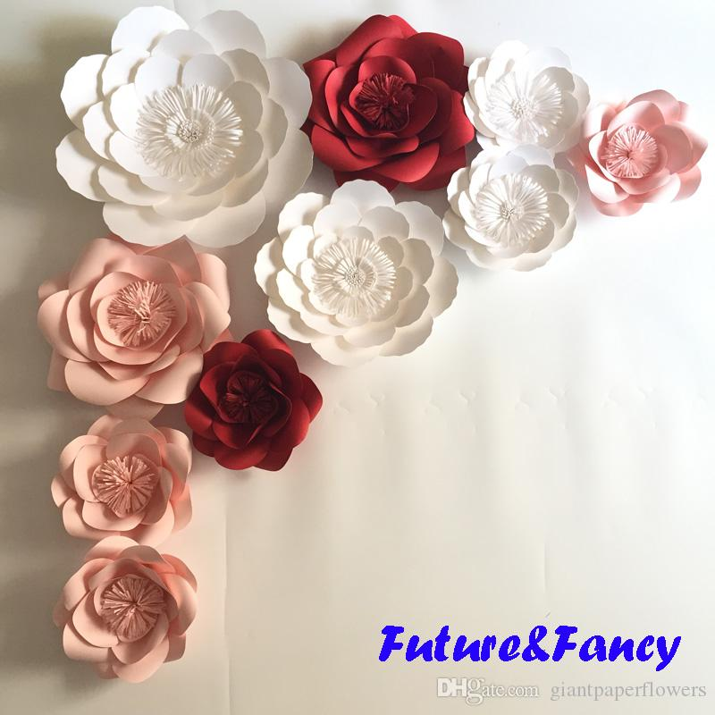 Online Cheap Mix Colors Giant Paper Flowers For Wedding Backdrops