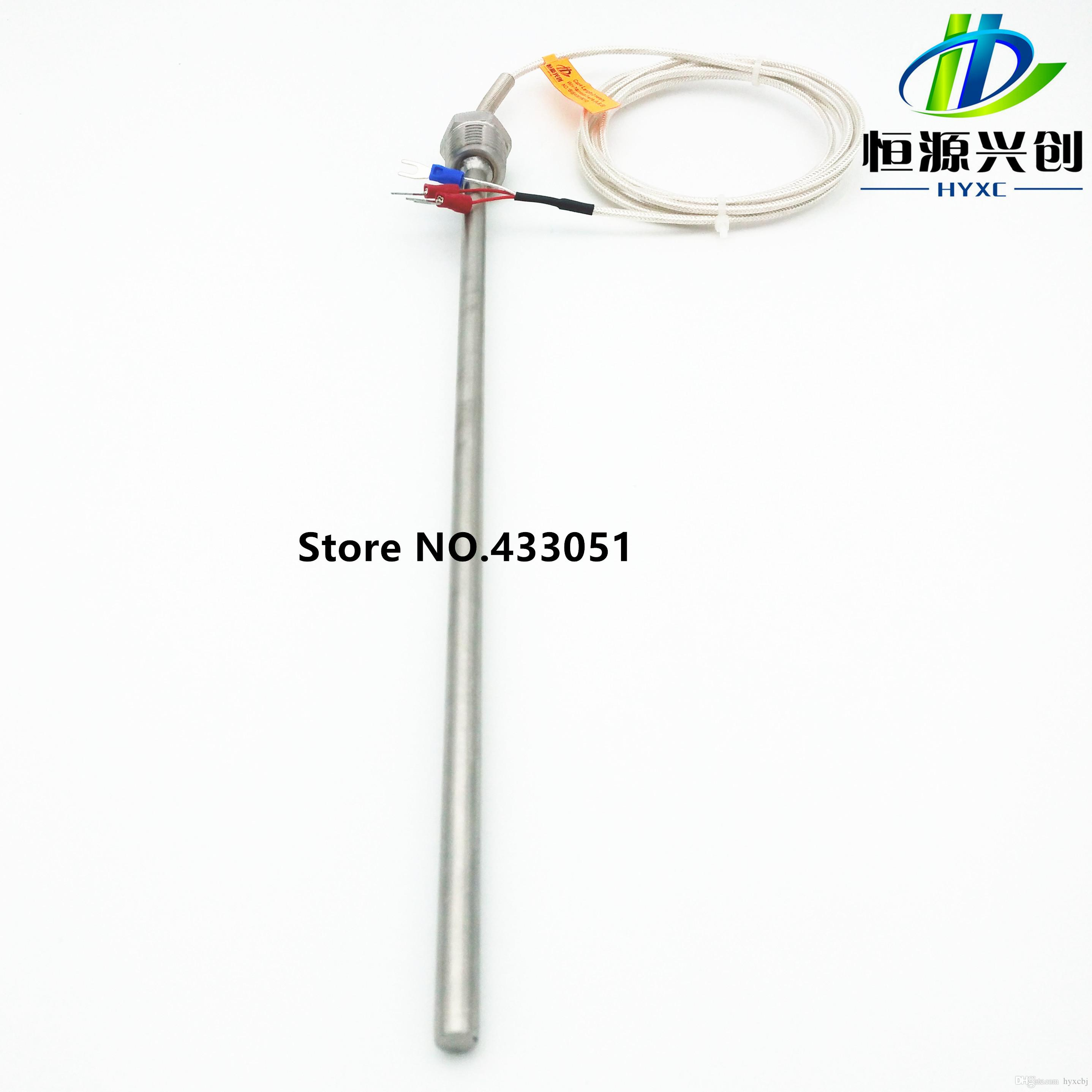 Pt100 Ohm Probe Sensor L 300mm Long Type Pt Npt 1 2