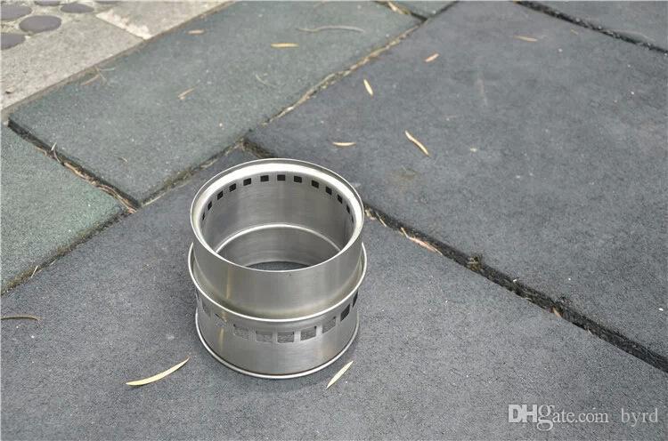 4 in 1 in acciaio inox dividere stufe barbecue picnic antivento portatili esterni in legno fuoco picnic carbone stufe 004