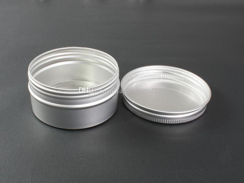 60g De Alumínio Frasco De Lata De Prata Cor De Metal Cosméticos Recipiente Da Arte Do Prego Maquiagem Lip Gloss Creme Líquido Pot Fio de Rosca Pote De Plástico