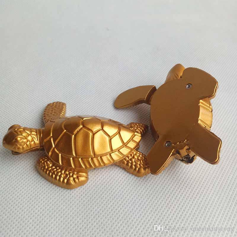 Sigaretta metallo tartaruga butano tartaruga oro accendisigari senza gas tabacco a mano Tubi Accessori Strumenti Uso cucina
