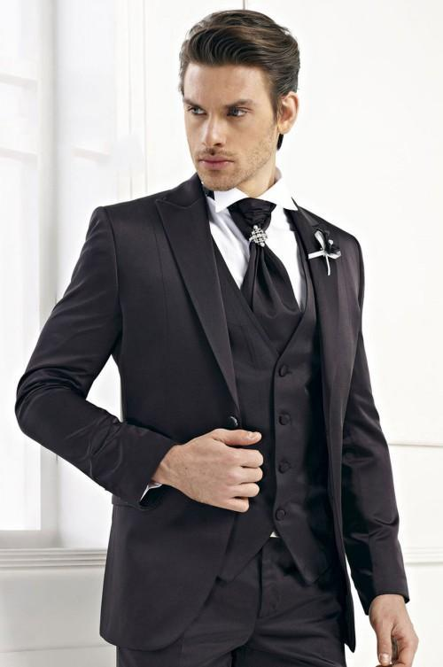 2018 black men suits men wedding tuxedos groom suits prom suits trim