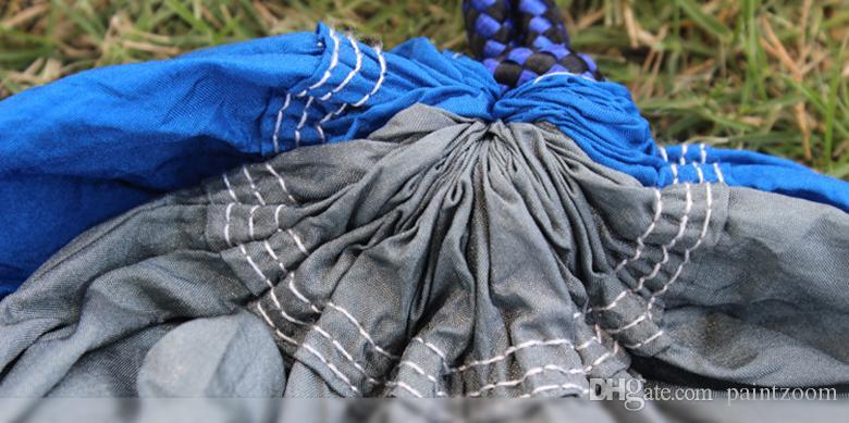 frete grátis Parachute 2 pessoas dormindo hammock Caminhadas ao ar livre camping viajar emergência cama de dormir sobrevivência hammock