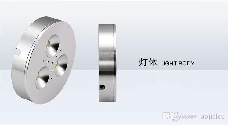 Latest Price Promption ! CREE 6W Dimmable Warm Pure Cold White AC110V/AC220V/AC230V LED Puck Light for cabinet or display box