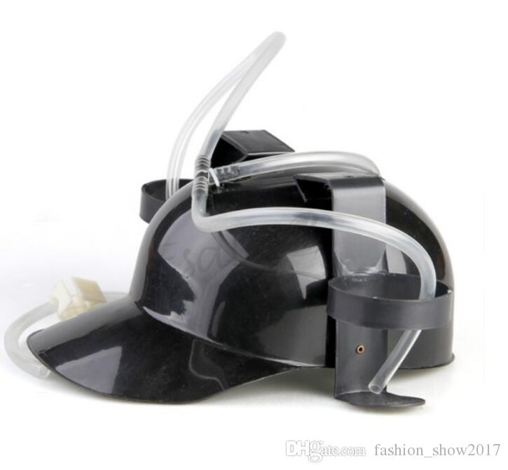 Beverage Helmet Drinking Beer Cola Coke Soda Miner Hat Lazy Lounged Straw Cap Birthday Party Cool Unique Toy Drinking Hat