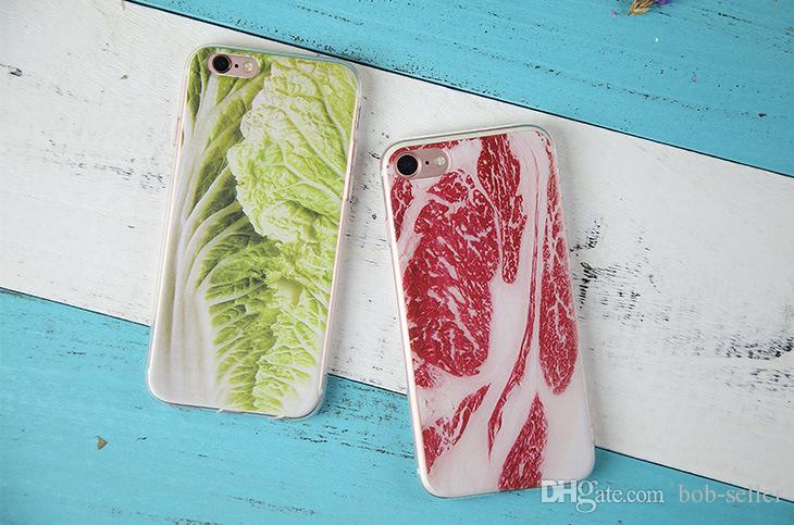 Apple iphone X iphone8 iphone 7 7 plus 6S SE TPU Custodie telefoni cellulari mimetici creativi