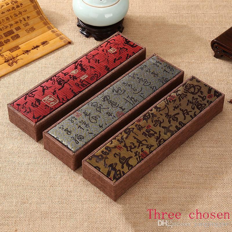 Античный shiwen ювелирные изделия деревянные бусины Гессен коробка нефрит браслет Браслет строка пакет коробка для бесплатная доставка