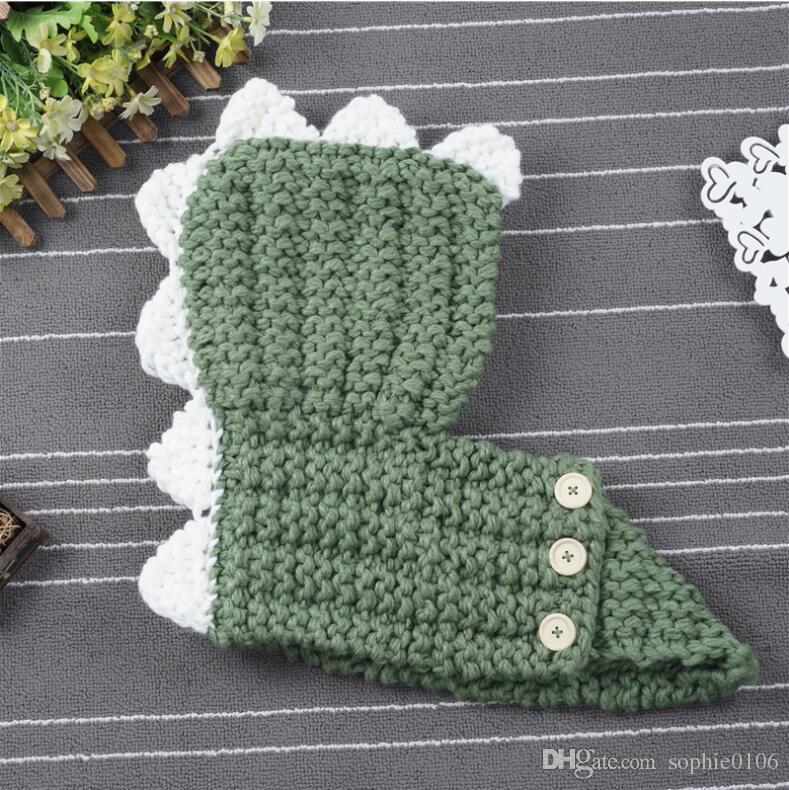 Winter-warme Mädchen Dinosaurier Hut Schal Schalldämpfer Baby warme Hüte und Schal Kinder Mode Herbst Winter Hut Weihnachtsgeschenke SHC 003