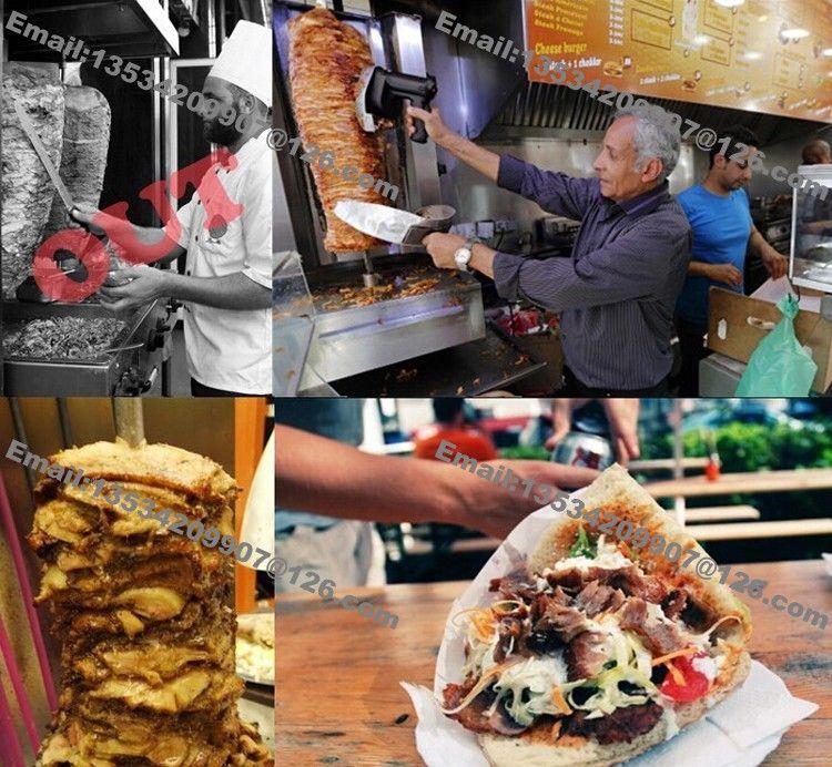 Envío Gratis 10 cm Hoja Redonda 110 v 220 v Cuchillo Shawarma Eléctrico Cuchillo Girocompás Doner Kebab Slicer Cuchillo Kebab