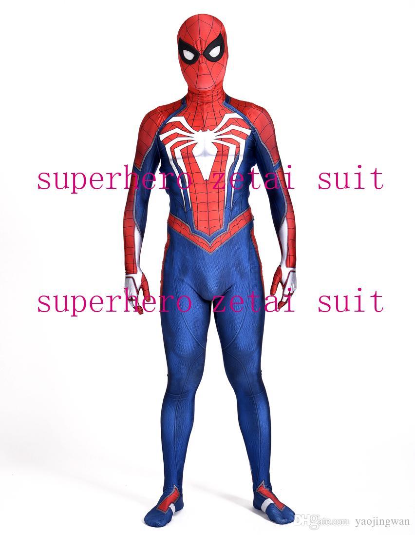 Compre NUEVA PS4 INSOMNIAC SPIDERMAN SUIT 3D Print Spandex Juegos Spidey  Cosplay Traje De Halloween Cosplay Spider Man Traje Para Adultos   Niños  Envío ... dd14416f81b4