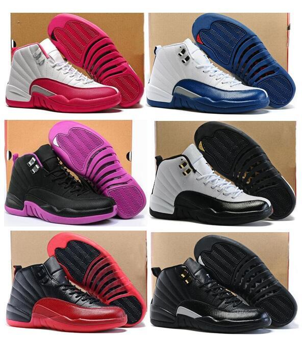 affordable for sale for sale cheap authentic High Quality Women 12s GS Hyper Violet Youth Pink Valentines Day Basketball Shoes Girls The Master Taxi Sneakers buy cheap 2014 unisex R5MEsS53Sf