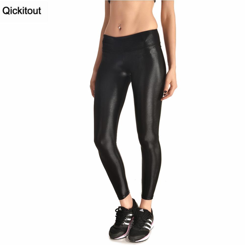 2018 qickitout leggings 2016 new arrival women's shiny leggings