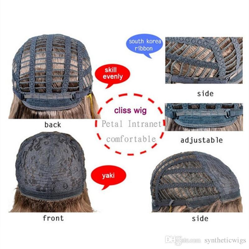 Parrucca in fibra sintetica ad alta temperatura parrucche in fibra di legno ad alta temperatura donne con resistenza al calore