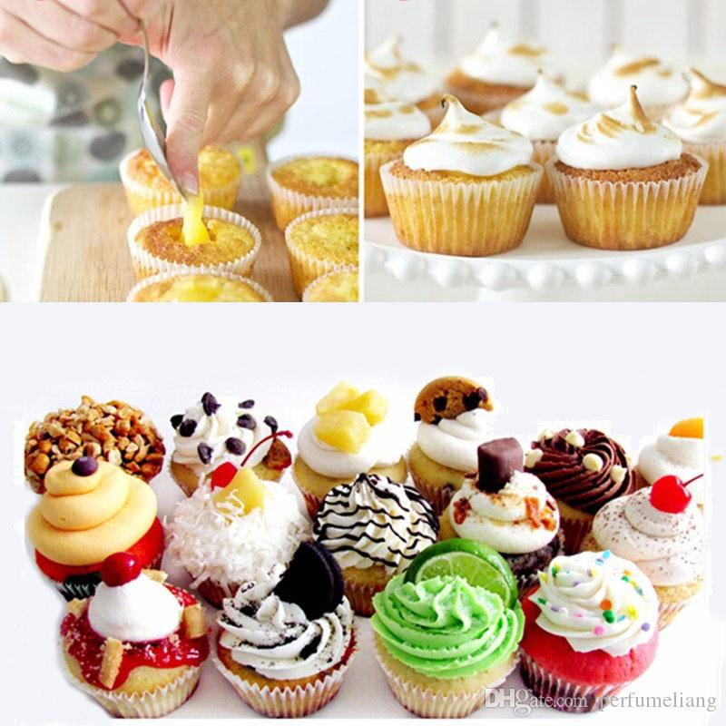 Wholesale Cake Divider Core Tools Cupcake Muffin Pastry Cake Corer Plunger Cutter Decorating Divider Cake Tools ZA0382