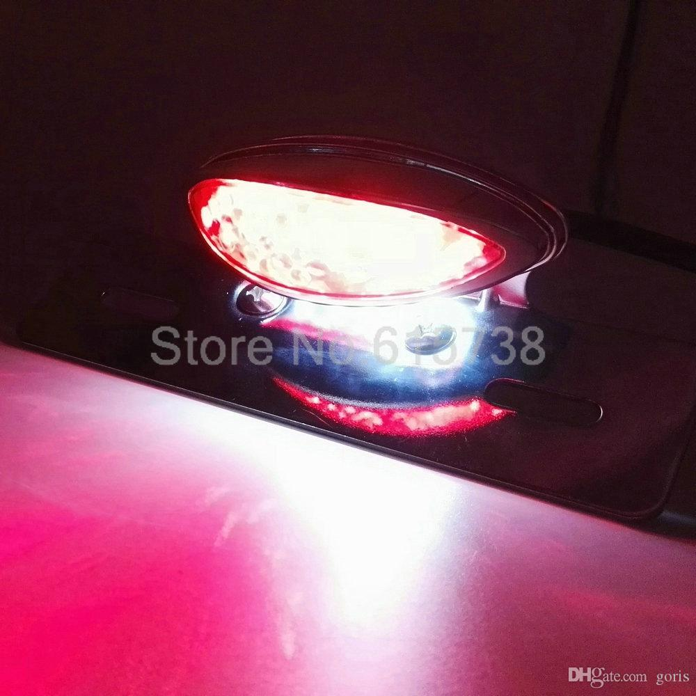 clear lens silver chrome Motorcycle License Plate Mount Brake light Tail Light For ATV DIRT Chopper for honda yamaha