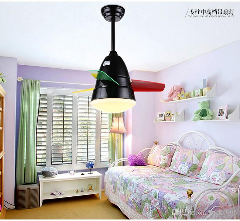 2019 White Children\'S Room Bedroom Ceiling Fan Light 26 Inch 36 Inch LED  Minimalist Modern Small Dragonfly Hanging Fan Lights DHL From Luck1005, ...