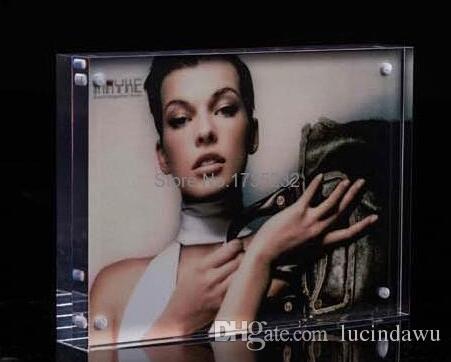 10 pz 210 * 120mm Acrilico POP presentazione Negozio Etichetta cartellino del prezzo cartellino pubblicitario poster foto foto espositore etichetta