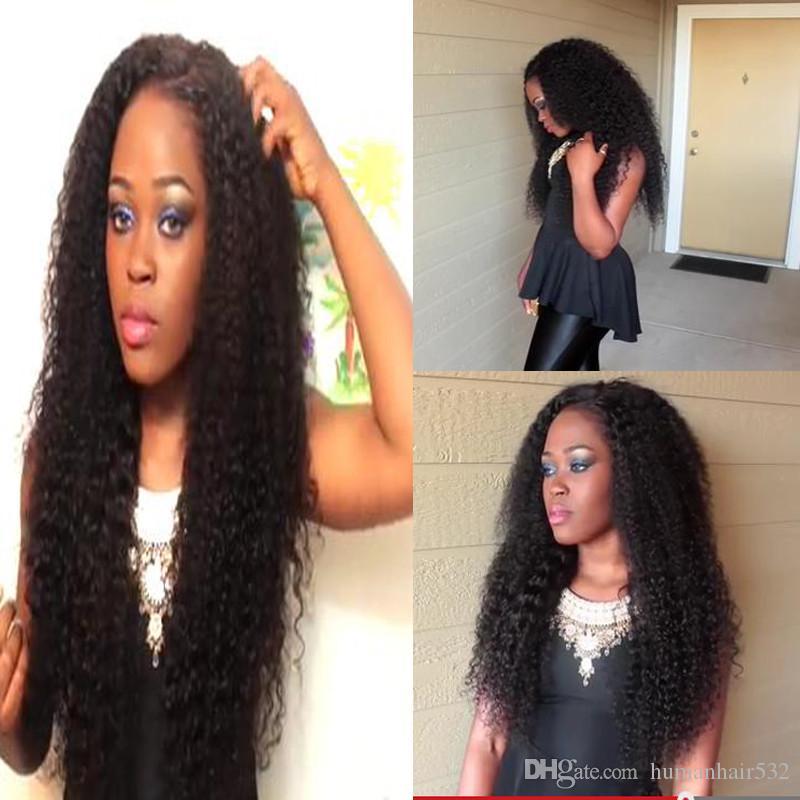 Parrucche piene di capelli umani del merletto dell'onda profonda 8A le donne di colore con le parrucche diritte del pizzo dei capelli umani del pizzo