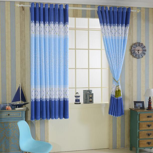 2017 New Custom Finished Curtains Summer Short Semi Shade