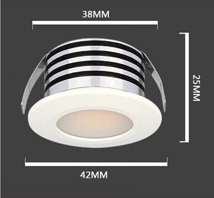 3W LED ceiling lamp tube light LED wine cabinet light sitting room background wall lamp is super bright small Led spot light