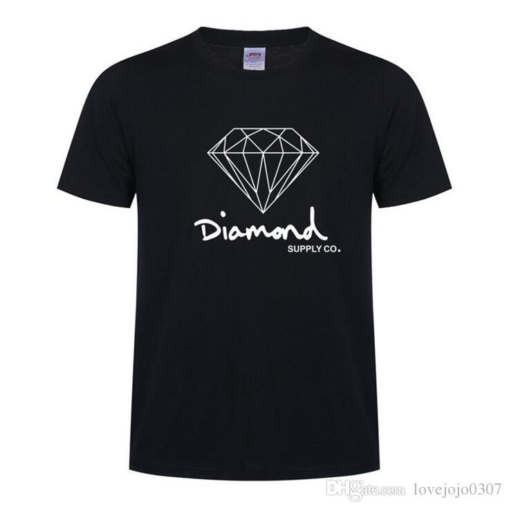 0ebb56812269 Diamond Supply Co New Summer Cotton Mens T Shirts Fashion Short Sleeve  Printed Male Tops Tees Skate Brand Hip Hop Sport Clothes D15 Fashion T  Shirts Print ...