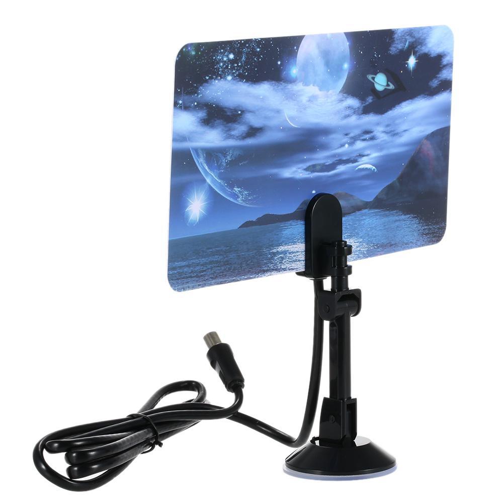 w16PH08 Antena de TV digital para interiores 35dBi Alta ganancia Full HD 1080p VHF / UHF DVB-T-Aerial Conector IEC para DTV / TV